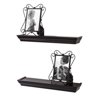 4pc Wall Shelf And Frame Set 2 4x6 Frames With 2 17 Quot Ledges X 4 Quot Deep 30 4x6 Frames