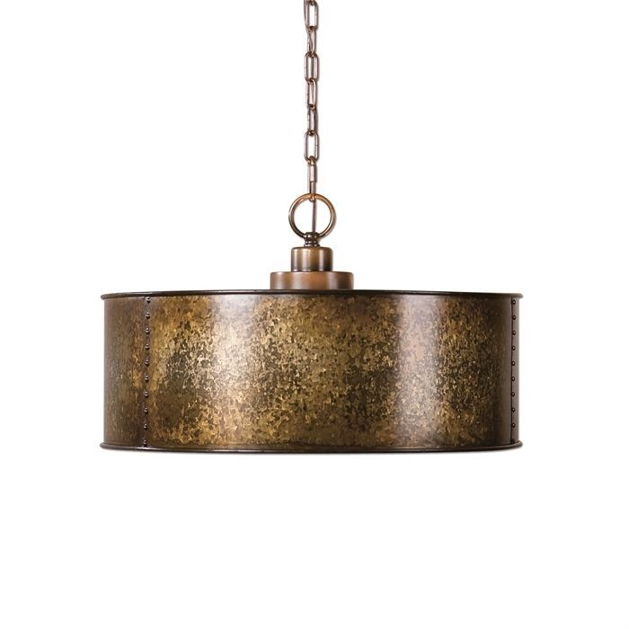 metal drum chandelier pendant light