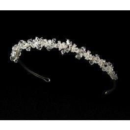 Silver Crystal Romance Bridal Tiara