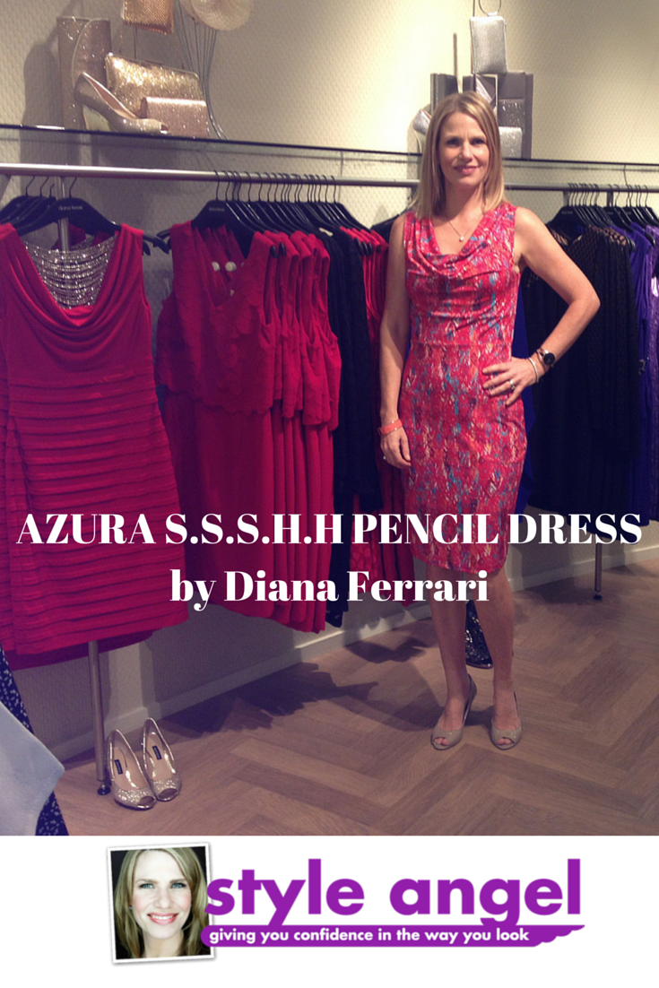 132a1b8bf1d Wearing this Diana Ferrari dress makes me so happy. I love the colours and  the fit! It has the built-in shape wear (S.S.S.H.H) which pulls my stomach  and ...