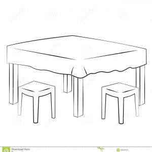 Dining Table Stock Vector Image 48520120 Intended For Dimensions 1300 X  1390 Kitchen Table Clipart Black And White   If You Have Been Looking At  Contempora