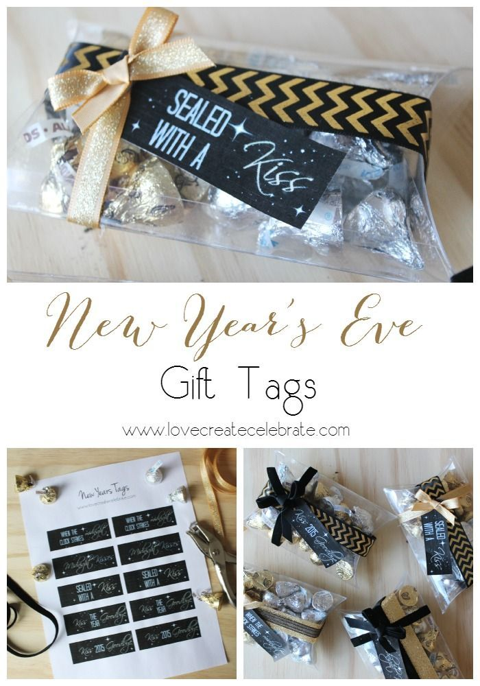 #New Year's #Eve Gift Tags! Free printable for giving hostess…