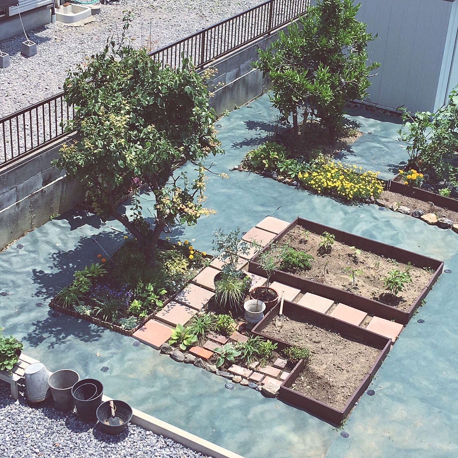 家庭菜園 畑 家庭菜園初心者 庭 玄関 入り口 などのインテリア実例