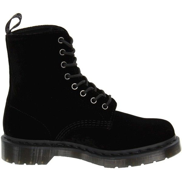 Dr. Martens Page (Black Ze You Velvet) Women's Boots ($75) ❤