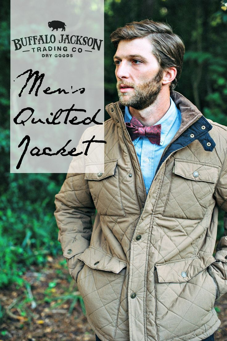 Flannel with jeans and boots  This quilted jacket has a vintage wash for that broken in look Go