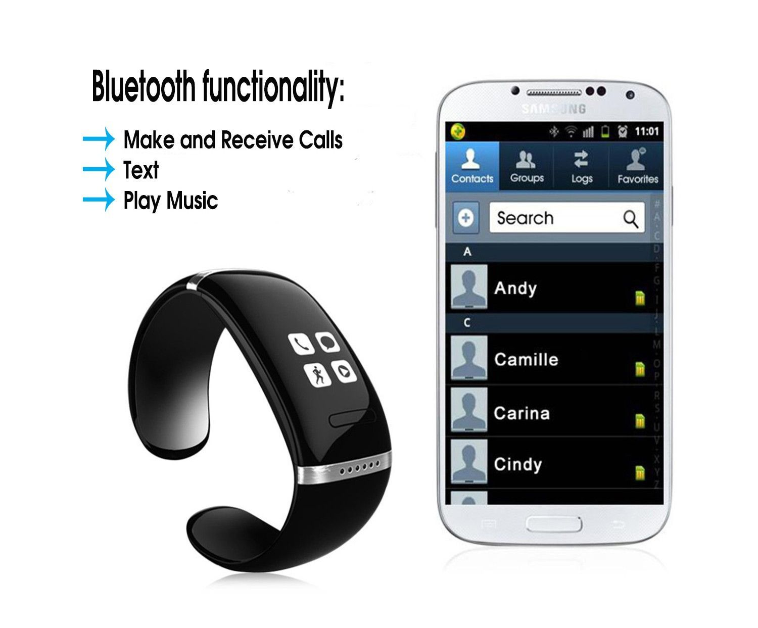 Lifestyle smart watch with oled display smart watch