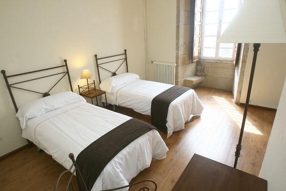Highly recommended Hostel: Hospedería San Martín Pinario in the centre of Santiago de Compostela, Spain. Email to reserve pilgrim rates/rooms at reservas@sanmartinpinario.eu