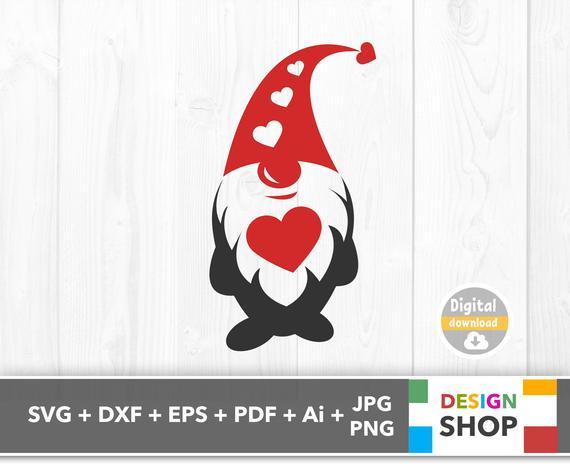Valentines Gnome Svg Gnome Heart Svg File Valentine Gnome Svg Valentines Gnome Clipart Heart Gno Valentine Svg Files Valentines Svg Creative Christmas