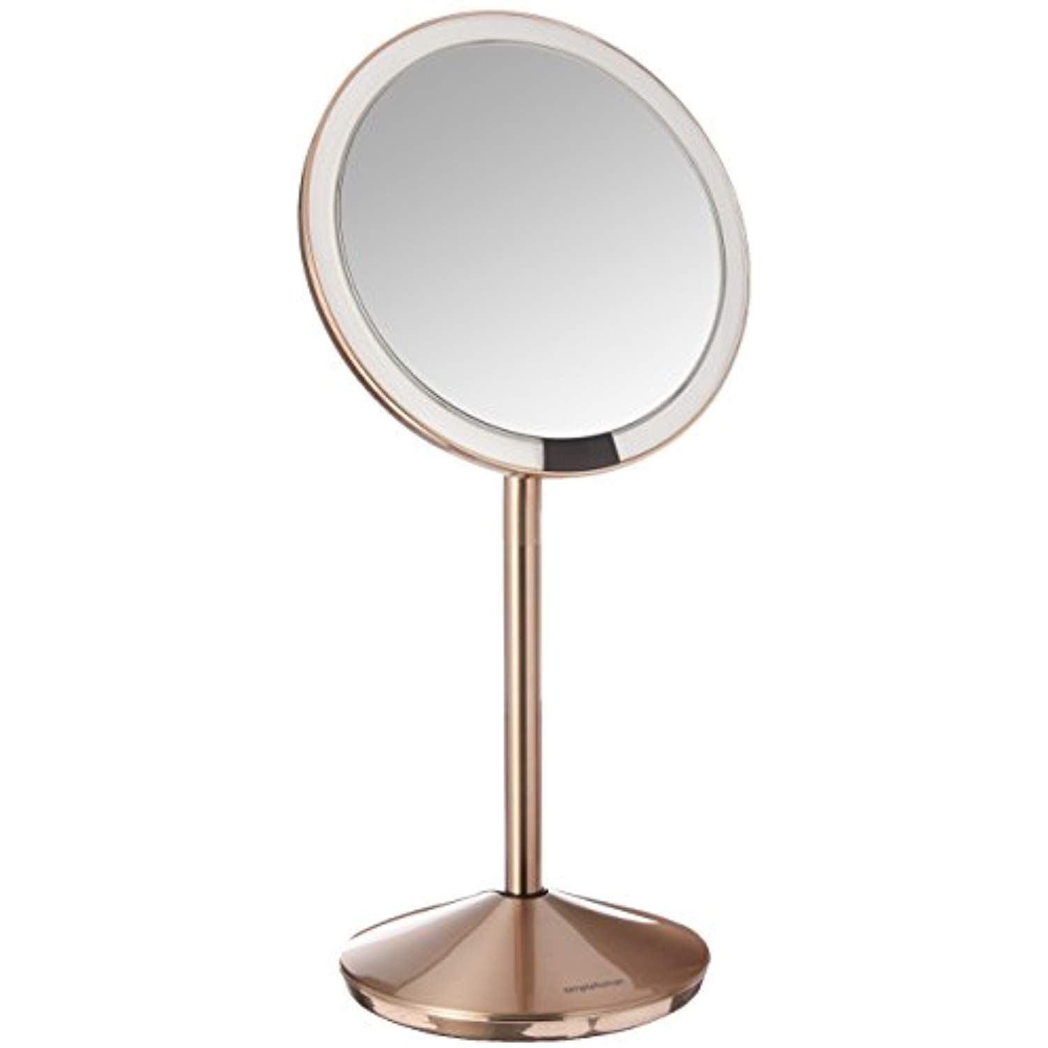 Simplehuman 5 Inch Sensor Mirror Lighted Makeup Mirror 10x