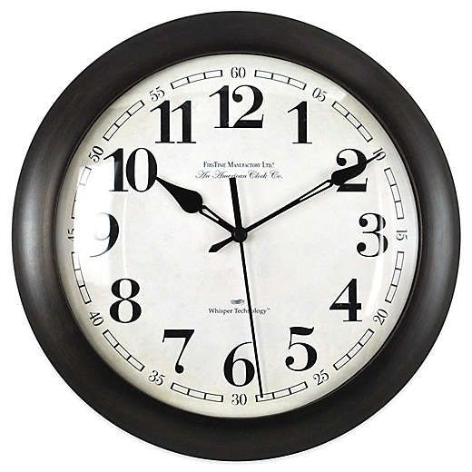 Firstime Slim Bronze Wall Clock Clock Wall Clock Silent Antique Wall Clocks