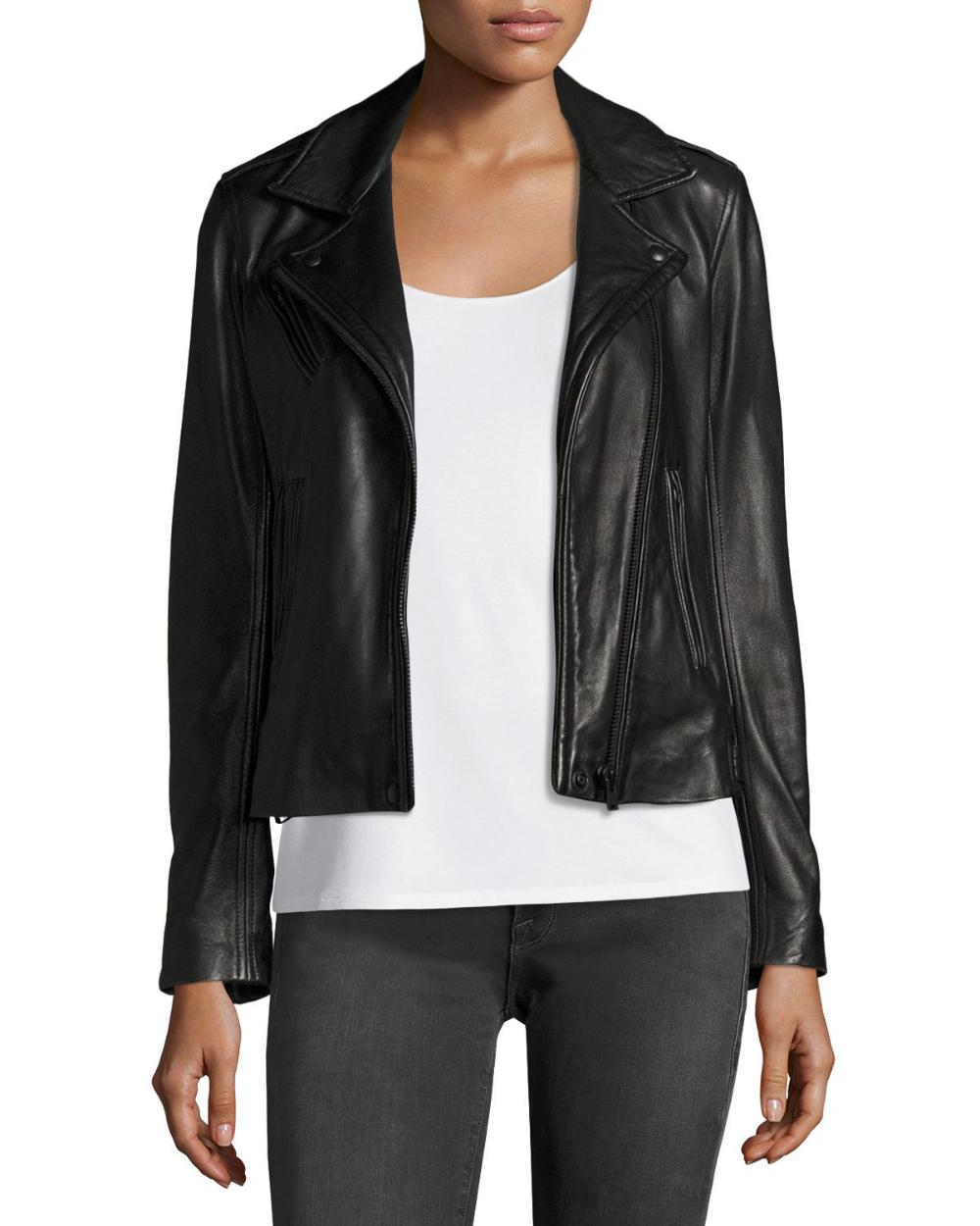 Iro Han Leather Zip Front Moto Jacket Moto Jacket Jackets Lambskin Leather Jacket [ 1250 x 1000 Pixel ]