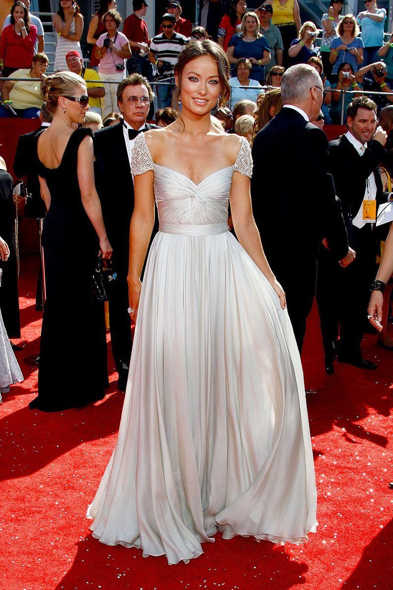Jessica Szohr Hollywood Pleated Silver Chiffon