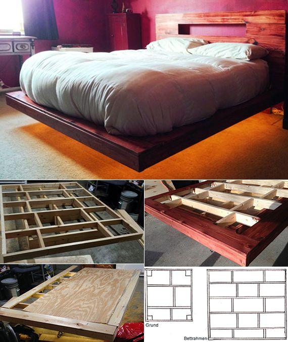 Bett Selber Bauen Für Ein Individuelles Schlafzimmer Design Diy Schwebebett Mit Indirekter Beleuchtung