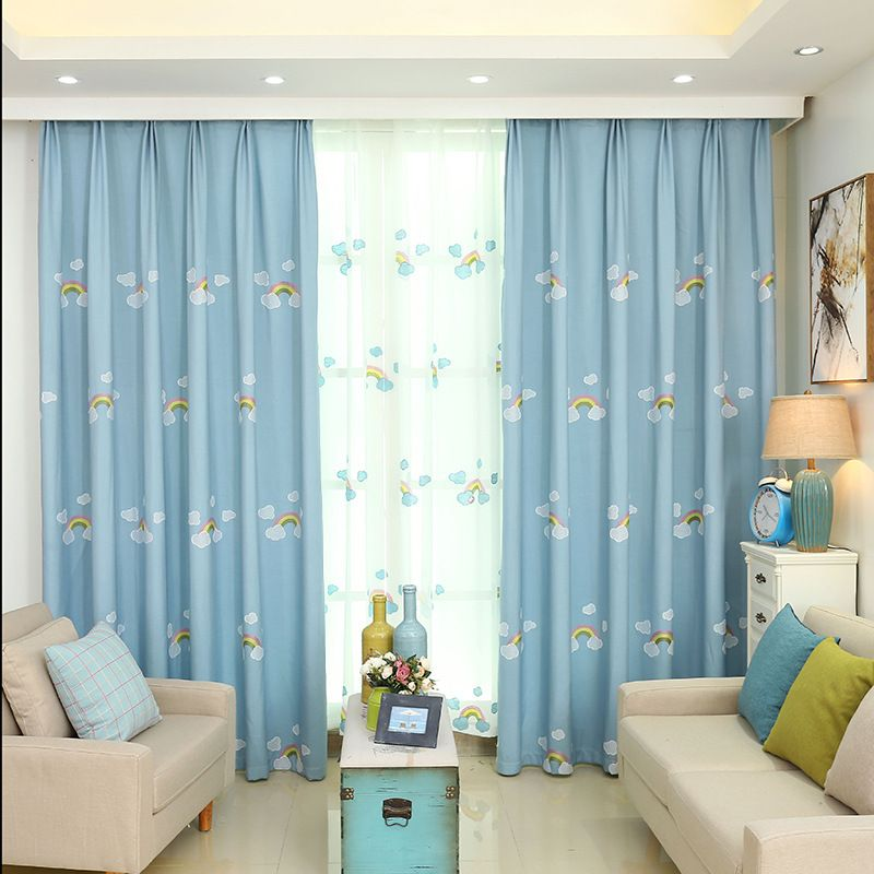 1piece Readymade kids cartoon curtain, #LR-caihongqiao customized ...