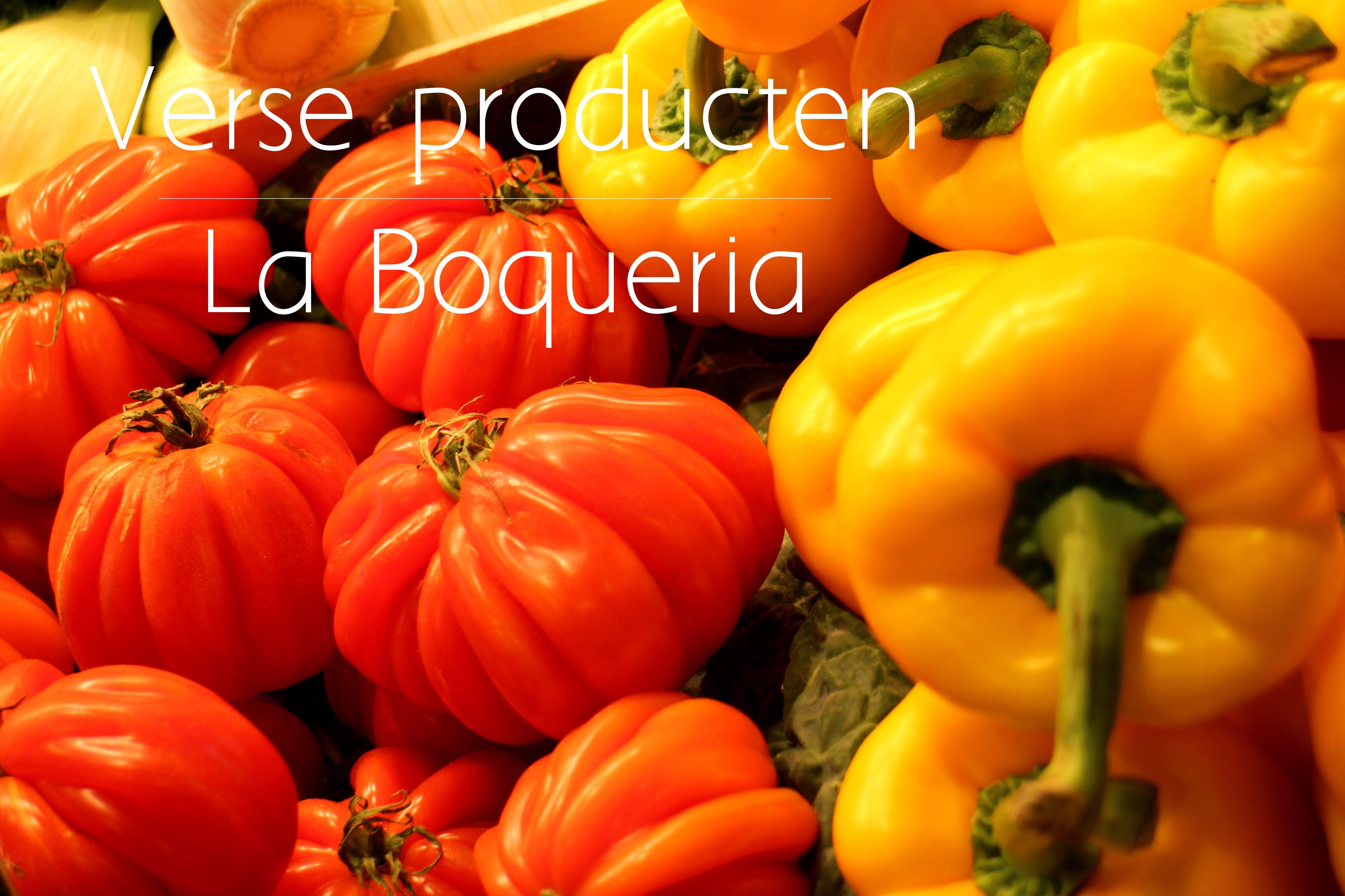 Verse producten in La Boqueria |  #vers #groenten #fruit #Barcelona #markt #boqueria #kleur