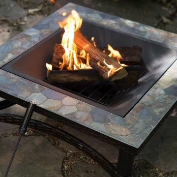 red ember castle pines 34 inch square slate fire pit - Slate Castle Ideas