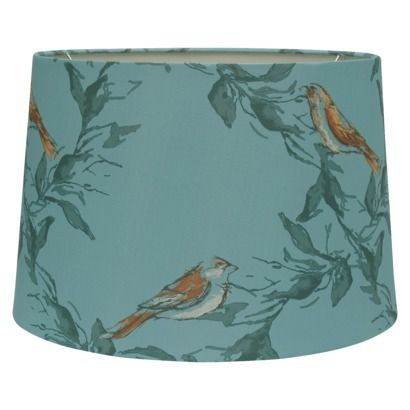 Threshold™ Leaf & Bird Print Ground Lamp Shade - Adventure Teal ...