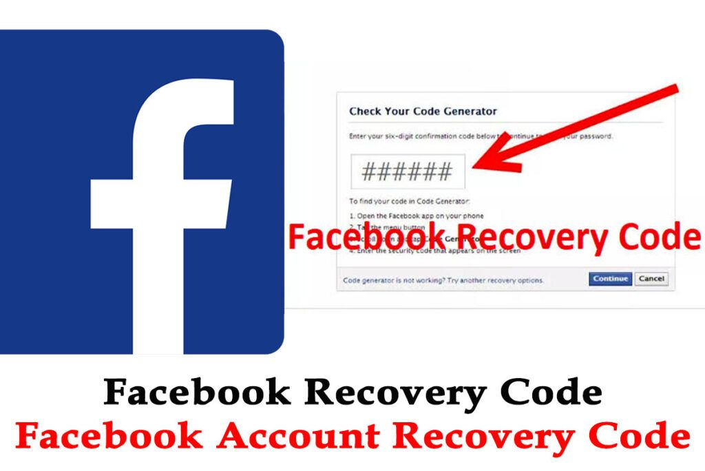 Facebook Account Recovery Using Code Www Facebook Com Recover Code Facebook Recovery Code Account Recovery Facebook Help Center Accounting