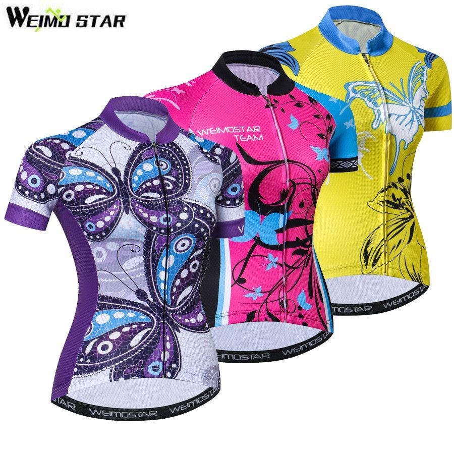 camiseta de monta/ña c/ómoda de secado r/ápido Maillot de ciclismo de manga corta para mujer