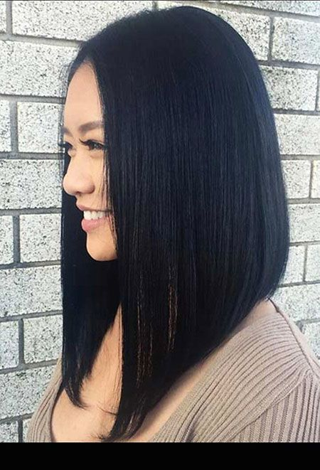 Angled Bob Hairstyles 2018 Short Hairstyles For Women Hair Styles Long Bob Hairstyles Hair Color For Black Hair