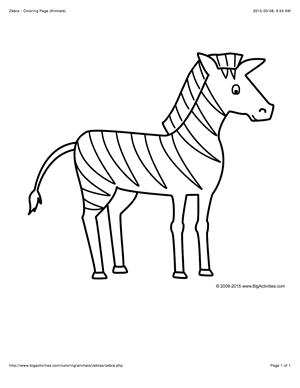 Animal Coloring Page With A Picture Of A Zebra To Color Zebra Coloring Pages Zebra Drawing Animal Coloring Pages