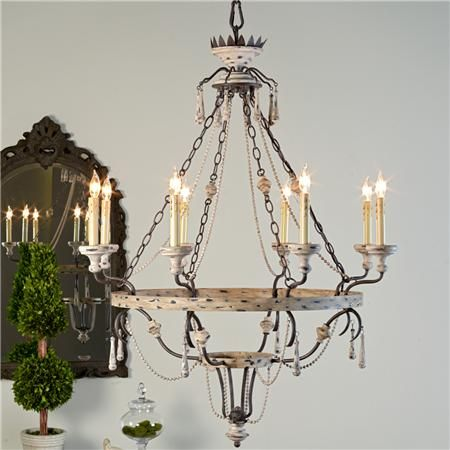 Countryside Elegance Tiered Chandelier | Rustic chandelier ...
