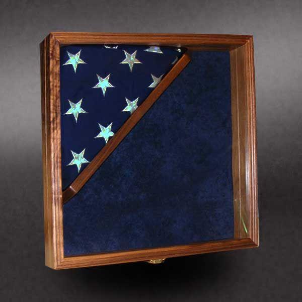 16x16 Walnut With 3x5 Corner Flag Greg Seitz Woodworking Framed Flag Military Shadow Box Shadow Box