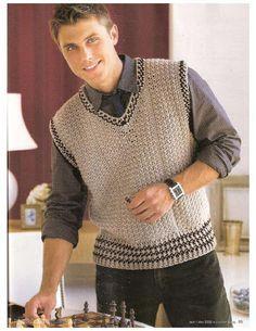Chalecos Para Hombres A Crochet Buscar Con Google Chaleco Tejido Para Hombre Ganchillo Para Hombres Chalecos Hombre