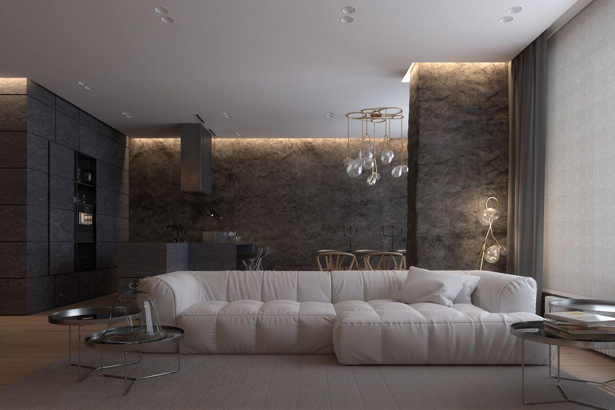 Moderne und luxuriöse Wohnzimmer Designs sehen so hervorragend mit