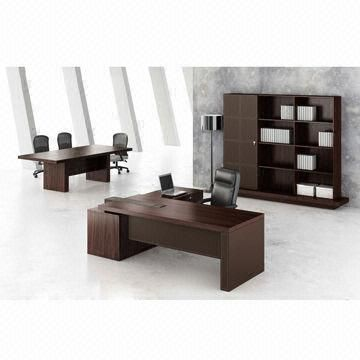 Good Office Furniture/veneer Office Desk, Modern, Walnut Color, L Shaped