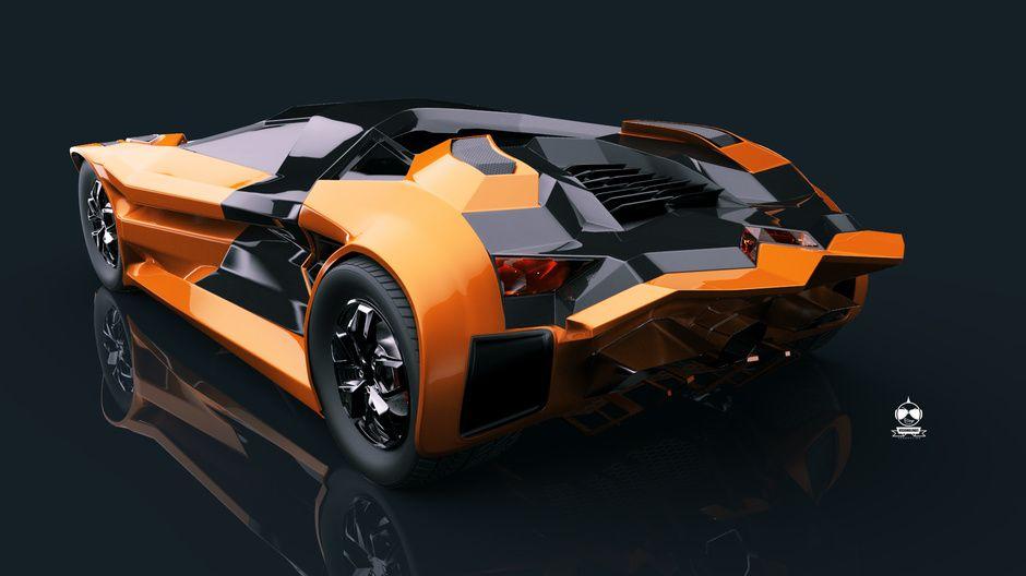 Lamborghini Diamante Concept By Vision Blinde Studio Design 2d