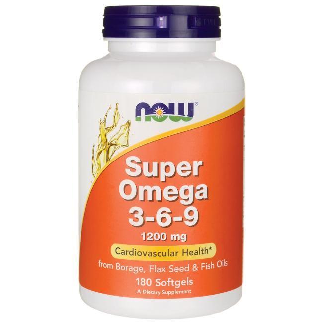 Now Foods Super Omega 3 6 9 1 200 Mg 180 Sgels Health Essential Fatty Acids Omega 3