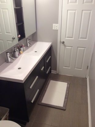 My Small Bathroom Remodel Recap Mold In Bathroom Small Bathroom Remodel Small Bathroom