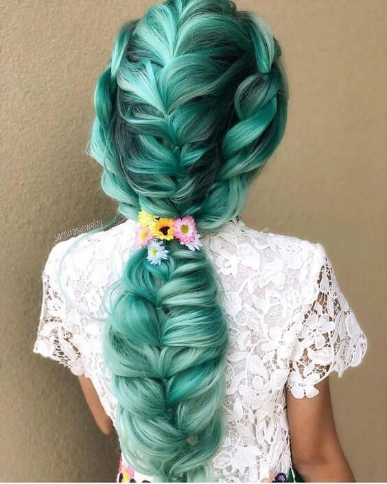 30 Creative And Unique Wedding Hairstyle Ideas: 20 Popular Magical Mermaid Hair Ideas For The Summer Of
