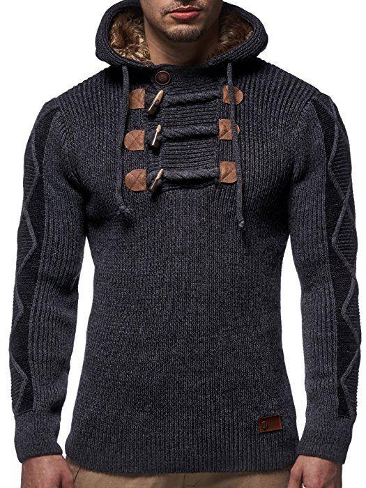 LEIF NELSON Herren Pullover Strickpullover Hoodie Kapuzenpullover Pulli  LN4205N: Amazon.de: Bekleidung