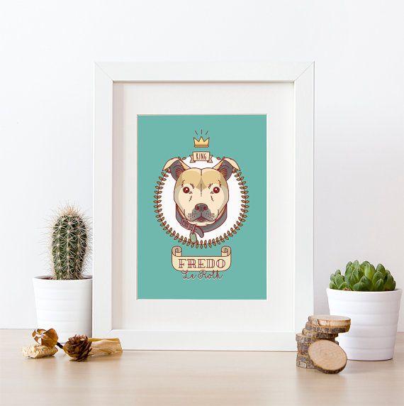 Photo of Retrato de perro, Ilustración de perro, Arte personalizado, Regalo para mascotas, Dibujo para mascotas, Descargable, Regalo original, Dibujos animados