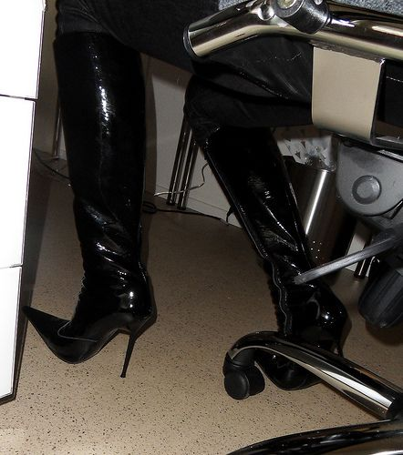 home office | 1 day a week Rosina works at home. high heels … | Flickr