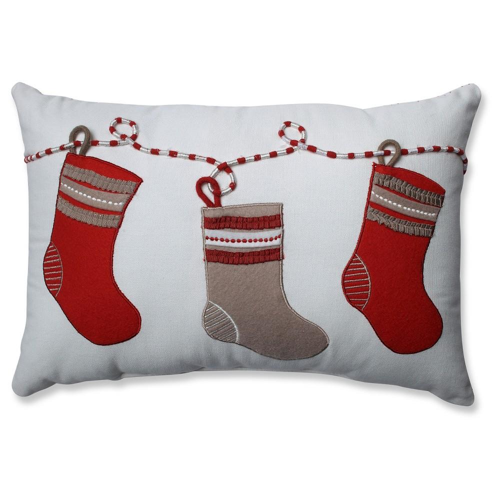 """White Throw Pillow Stockings (17.5""""x11.5"""") Pillow"""