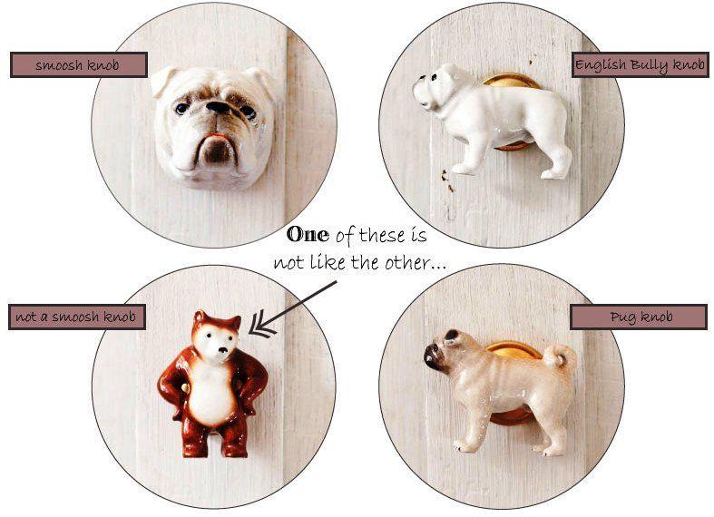 English Bulldog and Pug door / cabinet knobs. #notthehighstreet ...