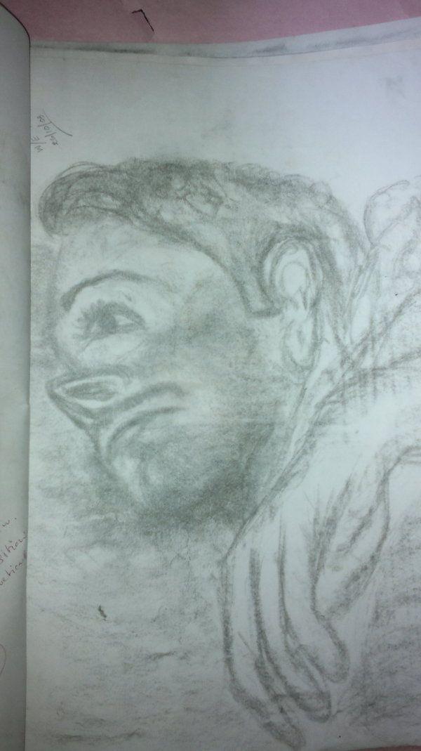 My art by Yasisurie Kiribandara, via Behance charcoal drawing