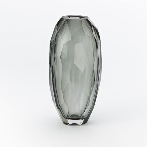 Faceted Glass Vases
