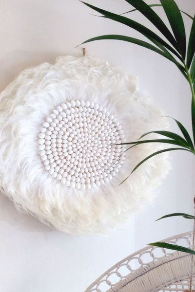Feather Wall Art cabo gypsy | shell feather wall art | bali homewares | favourites