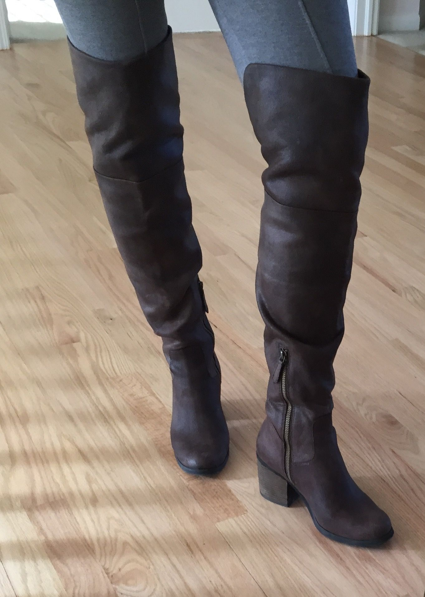 buy cheap Manchester sast for sale Freelance Leather Over-The-Knee Boots cheap pictures cheap sale high quality I83nV8WlTS
