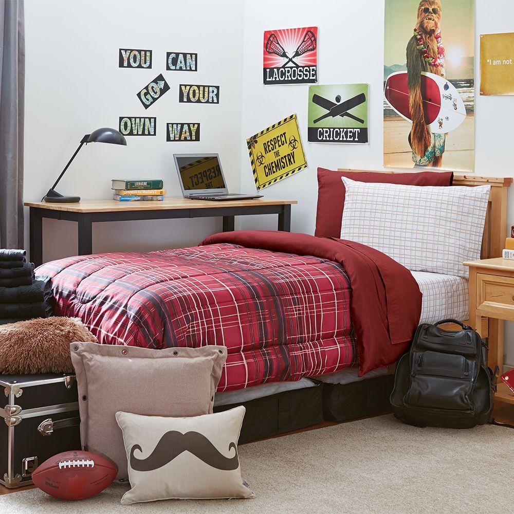 Student Starter Pak - Twin XL Bedding and Bath Set | Brown University Dorm Bedding and Bath | OCM.com