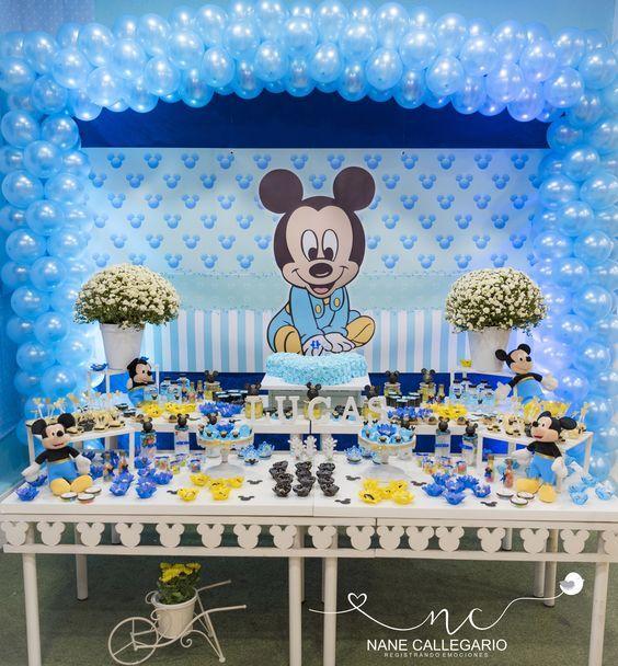 Tematica Para Fiestas Mickey Mouse Babies Ideas Para Decorar Una Fiesta De Cumpleaños De Mickey Mouse Decoração Mickey Baby Decoração Mickey Festa Mickey Baby