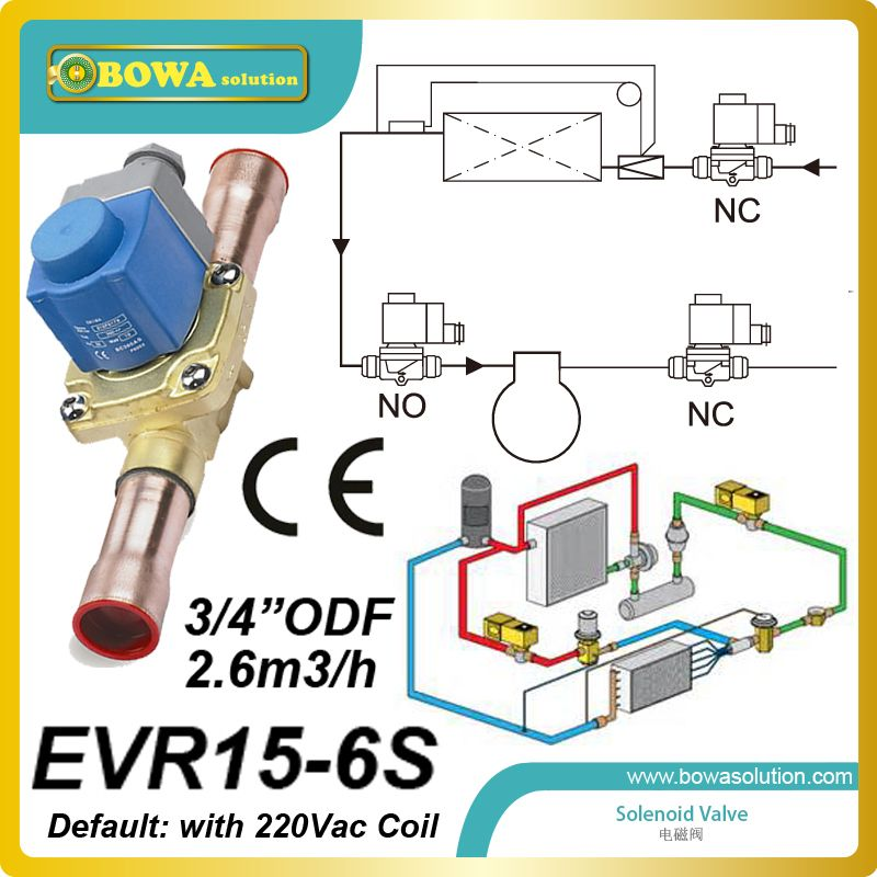 3 4 Odf 2 6m3 H Freon Solenoid Valve With Coil For Air Cooled Condensing Unit And Freezer Equipments With Images Heat Pump Air Conditioner Valve Air Conditioner Parts