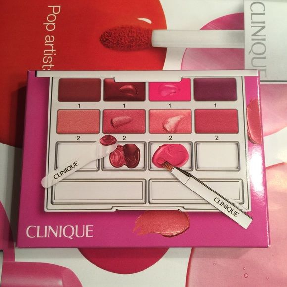 Clinique Pretty Pink Lip palette New in a box. Never been used, mix and match your own color. Very pretty  Clinique Makeup Lipstick