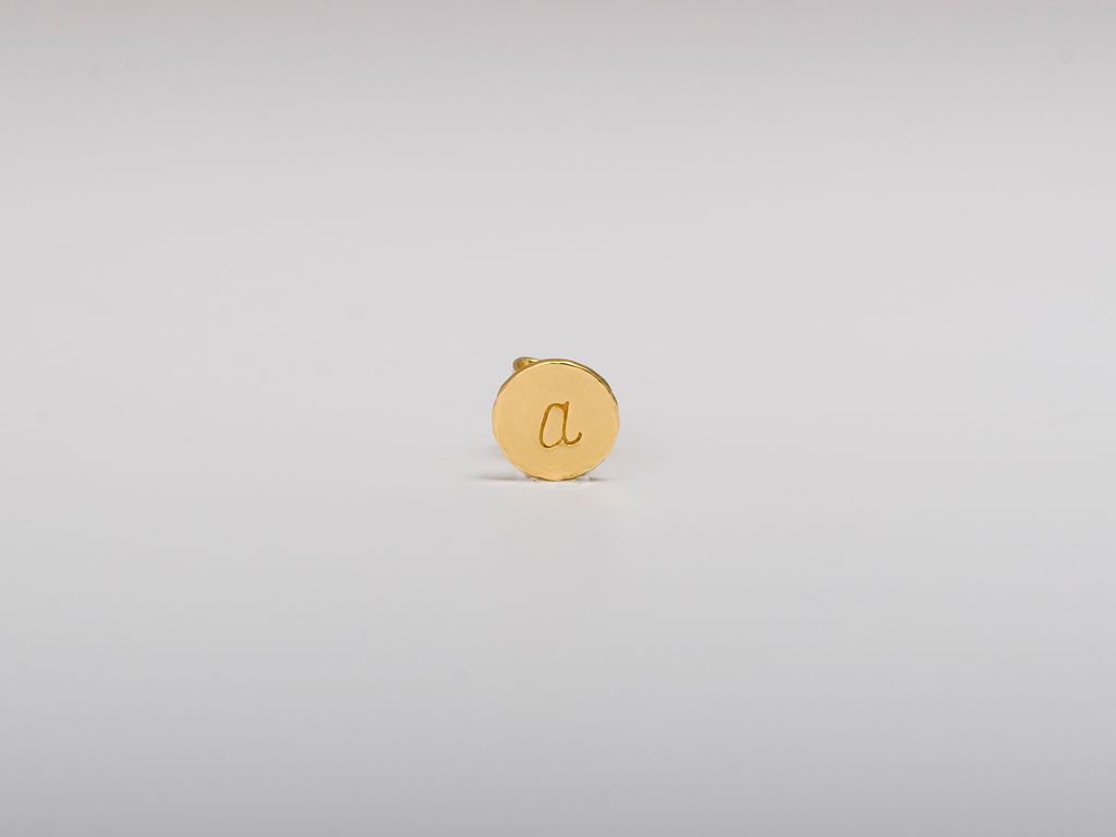 @gorjana brand on sale initial stud earrings, buying a b and m!