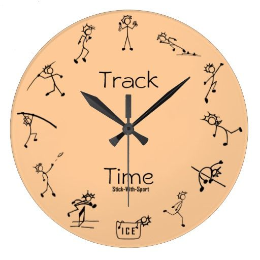 Stick With Sport Track Time Decathlon Clock Zazzle Com Clock Sports Track Decathlon