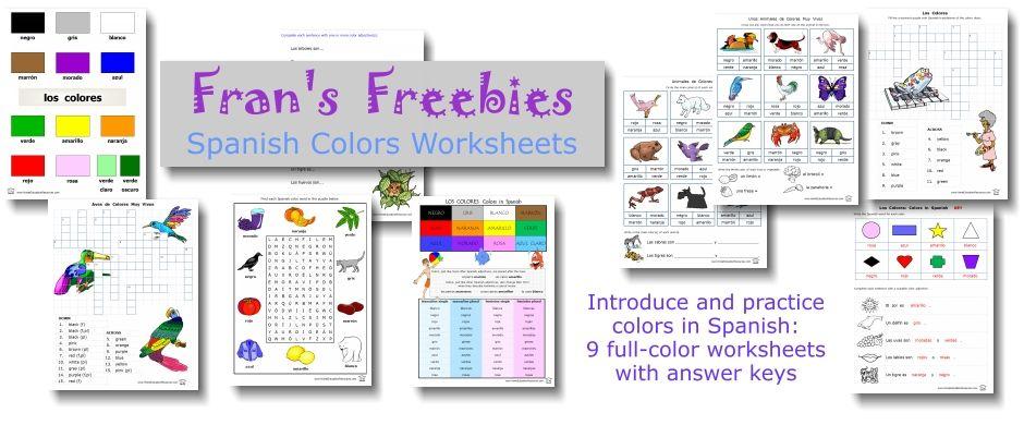 GRATIS. Un archivo completo de los colores en español con gráficos ...